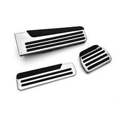 3pcs Gas Fuel Brake Footrest Foot Pedal Pad Cover Trim For Infiniti Q50/Q50L/Q60