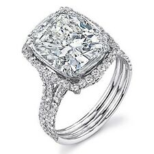 2.06ct Cushion Cut Diamond Engagement Ring 18K F/VVS2