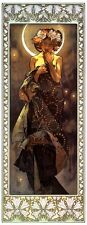 Alphonse Alfons Mucha Art Nouveau The Moon Miniature Picture Print & FREE Gift