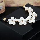Women Gorgeous Crystal Flower Statement Bib Choker Chunky Necklace Party Jewelry