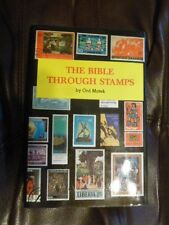 Signed Autographed Signature 1974 Book The Bible Through Stamps Ord Matek Stamp