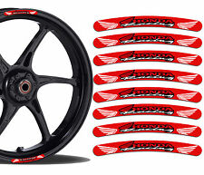 8 Honda Racing Rim Stickers Wheel Stripes Car Moto GP Motorbike Motorcycle R30