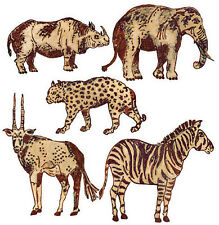 WALLIES JUNGLE/SAFARI ANIMALS batik wall sticker 25 decals Africa decor elephant