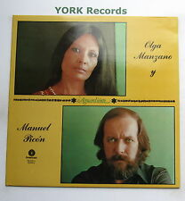 OLGA MANZANO y MANUEL PICON - Aguardiente - Ex Con LP Record Fonomusic 84.2165/5