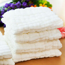 Soft Cotton Baby Infant Newborn Bath Towel Washcloth Feeding Wipe Cloth 30*30