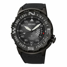 New Seiko SRP579 Prospex X Black Leather Automatic Limited Edition Men's Watch