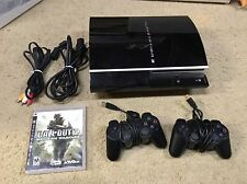 Sony PS3 PlayStation 3 Launch Edition 80 GB Piano Black Console (CECH-K01)