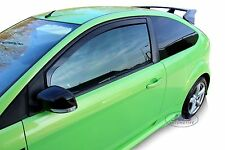 DFO15228 FORD FOCUS 3 door mk2 2004-2012 wind deflectors 2pc set TINTED HEKO
