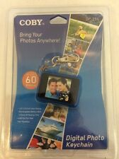 Coby Digital Photo Keychain, Blue, NIB