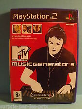 MTV MUSIC GENERATOR 3 PS2 COMPLET