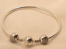 New Authentic Pandora Sterling Silver Pick A Pave Charm Bracelet Gift Set & Box