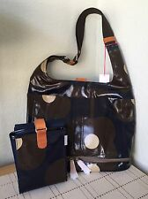 ORLA KIELY ETC ABACAS FLOWER PRINT NAVY BABY BAG AND CHANGING MAT BNWT RARE