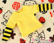 ☆╮Cool Cat╭☆ 242.【NL-11】Blythe Pullip Long Sleeve T-Shirts # Stripe Black+Yellow