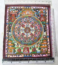 Old Tibet Tibetan Hand Painted Buddhist Thangka Mandala Painting Gold Leaf