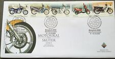 M'sia FDC Motorcycles & scooters 4-13.10.2003 Overprinted Bangkok