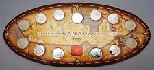Canada 1999 Millennium Quarter Proof Set Complete In Case - 12 Coins + Medallion