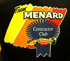 TEAM MENARD'S vtg captain's cap Contractor Club hat construction INDY Menards OG