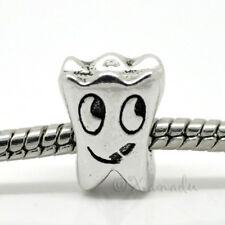 Tooth European Bead For Charm Bracelets - Gift For Dentists And Dental Hygienist