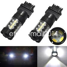 2X 3156 6000K LED Back Up Reverse Light 80W Samsung 2323 White Projector Bulbs