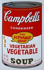 ANDY WARHOL CAMPBELLS' Vege. Vegetable Alphabet SOUP II SUNDAY B.MORNING 67/1500