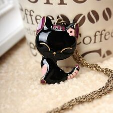 GirlZ! Fashion Europe Lovely Sweety Cat Pendant Necklace With Chain