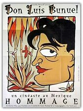 Affiche 120x160cm DON LUIS BUNUEL (1988) Hommage - Un Cinéaste Au Mexique NEUVE