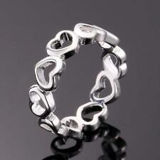 wholesale 925 Sterling Silver Filled Rings Women's Fashion Heart Jewelry Size Q