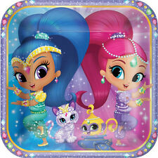 SHIMMER AND SHINE LARGE PAPER PLATES (8) ~ Birthday Party Supplies Dinner Lunch