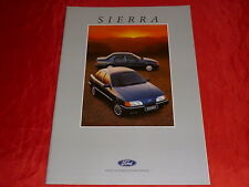 FORD Sierra CL GL Ghia 2.0iS XR 4x4 Prospekt von 1987