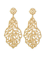 Kendra Scott LUXE Collection 18K Gold Plated Crystal Branch Clip On Earrings