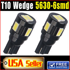 2 PCS Car T10 HID White LED 5630 6smd Wedge Light Bulb W5W 194 168 2825 158 192