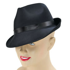 MADNESS BLACK FEDORA HAT ADULT FANCY DRESS PARTY ACCESSORY