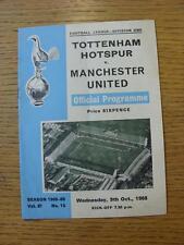 09/10/1968 Tottenham Hotspur v Manchester United  (Light Fold)
