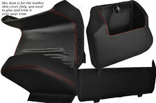 RED STITCH FOUR PIECE LOWER DASH KIT COVERS FITS VW T4 TRANSPORTER CARAVELLE