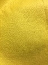 Yellow Champion Grain Fake Leather Heavy Duty Vinyl Upholstery Fabric Sold BTY