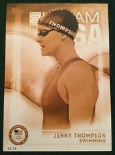 2016 Topps Olympics Gold 5X7 Jumbo Card Jenny Thompson USA Swimming #/10 Rare