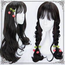 Lolita Harujuku COS Kawaii Sweet Cosplay Daily Black Curly Hair Long Wig Popular