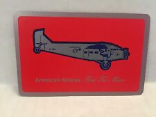 Vintage American Airlines Ford Tri-Motor Airplane Playing Cards Deck Tin Goose