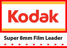 Genuine Kodak Super 8mm White Movie Film Leader 50ft reel (LOWEST EBAY PRICE!)