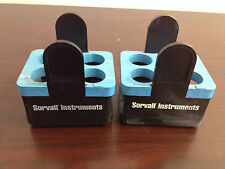 Lot of 2 Sorvall DuPont Instruments Buckets 750g #00830 Inserts