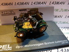 voiture 1/43 IXO eagle moss OPEL collection : Motorwagen system Lutzmann 1899