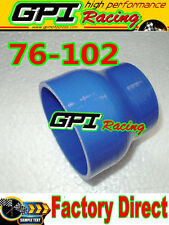 """NEW Silicone Straight Reducer Hose Pipe 76mm to 102mm/3""""-4""""inch Coupler tube BL"""