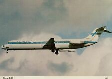 B0858mdt Transport finnair Airlines DC9 Aircraft postcard