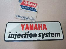 NOS YAMAHA INJECTION SYSTEM EMBLEM SOFT PLATE DECAL STICKER YL1 YR1 YR2 YG1 DS6.