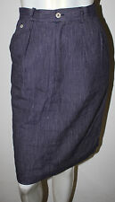 RALPH LAUREN Polo Purple White Stripe Linen Cotton Pleated Skirt 6