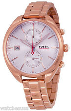 Fossil CH2977 Land Racer Silver Dial Rose Gold Chronograph Women's Watch