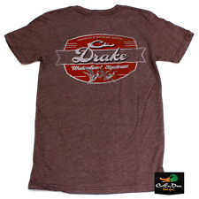 DRAKE WATERFOWL SYSTEMS VINTAGE SCRIPT LOGO S/S T-SHIRT BROWN HEATHER 2XL