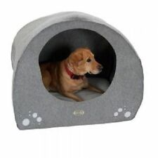 Dog Igloo bed cave M made from felt. With a soft removable cushion comfortable