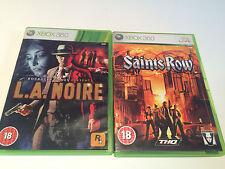 2 Games for Xbox 360 LA Noire & Saints Row