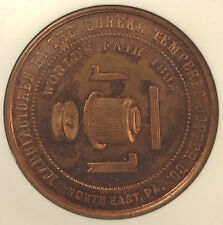 1893 Columbian Exposition (Chicago) Eureka Tempered Copper E-22 SC$1 NGC MS63RB